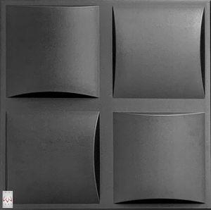 3D Wandpaneele Wandverkleidung Deckenpaneele Platten Paneele Pillow Schwarz Polystyrol XPS (0,25qm)
