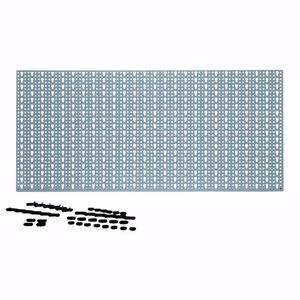 acerto® - Lochwand Werkzeugwand Werkstattwand Werkzeughalter 460x980mm Metall 44 Haken