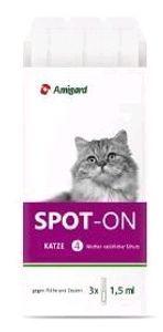 Amigard Spot On für Katzen, Option:3 x 1.5 ml
