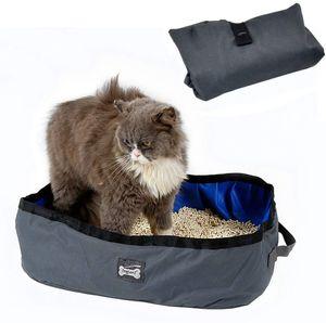 Katzentoilette Faltbare Tragbare wasserdichte Katzentoiletten für die Reise im Freien Katzenklo