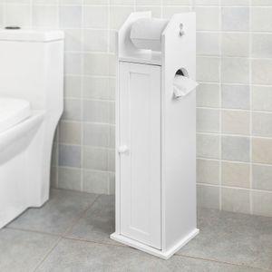 SoBuy® Freistehend weiß Toilettenrollenhalter, Papier Halter, FRG135-W