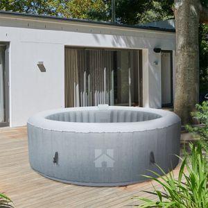 HOME DELUXE - Outdoor Whirlpool SPLASH Beton aufblasbarer Whirlpool Jacuzzi