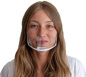 Mundschutz [10x] Plastik Maske Mini Face Shield - Gesichtsschutz Plexiglas Visier - Mund Nasenschutz Plexiglas - Mundschutz Maske Schutzmaske PVC Mund und Nasenschutz Gesichtsvisier