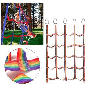 Kletternetz Rahmen Kletterseil Netz für Spielturm Kletterturm Kinder 145*185cm