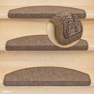 Metzker Stufenmatten Ariston   Halbrund 65x24cm Trittfläche   Braun 15 Stück