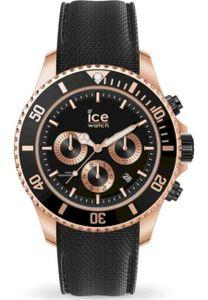 Ice-Watch 016305 Ice Steel Chrono Herrenuhr Kautschuk Datum Schwarz