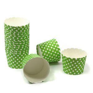 100 MUFFIN BACKFORMEN GRÜN, WEISSE PUNKTE, Durchmesser 5 cm / Muffinbackform, Muffinform, Backformen, Backförmchen, Cupcake Formen, Muffin Förmchen Papier
