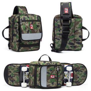 Multifunktionale Skateboard Longboard Tragetasche Outdoor Sport Folding Sling Pack Handtasche Umh?ngetasche