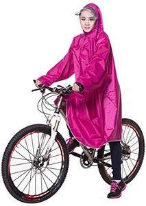 Bike Fahrrad Regenjacken Regenponcho Wasserdicht Regenmantel für Die Jagd Camping Freizeit Regenmäntel Regencape Pink 3XL