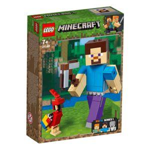LEGO® Minecraft™ Minecraft™-BigFig Steve mit Papagei, 21148
