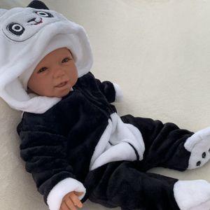 Baby Mädchen Jungen Strampler Overall Einteiler Gr. 6-9 Monate (68/74) Panda