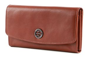 Esprit Iris Iris Flap Clutch Wallet Leder Geldbörse 080EA1V317, Farbe:Cognac