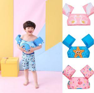Schwimmflügel Jumper, Schwimmhilfe für Kinder und Kleinkinder von 2-6 Jahre, 14-25kg, Blau Seepferdchen