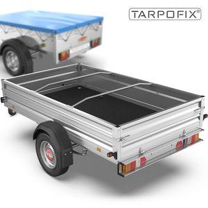 Tarpofix® Anhänger Planenbügel Flachplanenbügel 100-145 cm (2 Stk.) - Universell anpassbare Alu Planenstützen für Anhängerplanen - Planen Spriegel