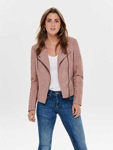 ONLY Damen Kunstlederjacke onlAVA, Farbe:rosa, Größe:40