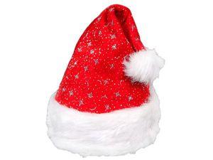 Weihnachtsmütze mit Pelzrand für Kinder
