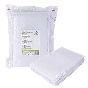Einmalwaschlappen Economy Weiß | 1000 Stück Soft Vliesstoff | saugfähig & sanft zur Haut | Einwegwaschhandschuh Waschlappen ideal für Pflegedienste, Babypflege uvm.