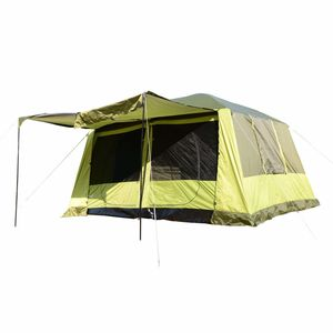 Outsunny Campingzelt Kuppelzelt Familienzelt 2 Schlafkabinen 4-8 Personen L410 x B310 x H225cm