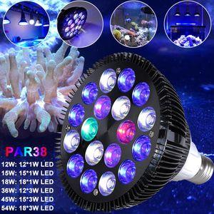 LED Aquarium Beleuchtung Vollspektrum Lampe Pflanzenlicht Leuchtmittel 45W