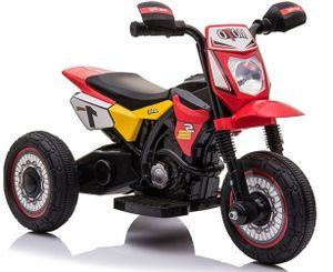 Kinder Elektro Motorrad Dreirad Trike TRIMOTO rot mit Frontscheinwerfer elektrisch