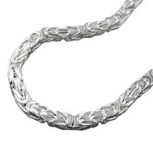 Armband Armkette silber Königskette quadratisch poliert 23,5 cm Silber 925