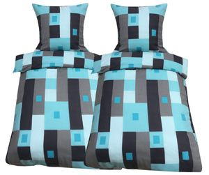 4 teilig Winter Fleece Bettwäsche Flausch Bettbezug 155x220 cm, Kopfkissenbezug 80x80 cm Bettgarnitur mit Reißverschluss
