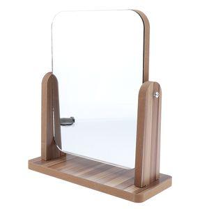 Groß Holz Standspiegel Kosmetikspiegel Schminkspiegel Rasierspiegel für Badezimmer und Wohnzimmer