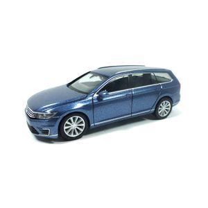 Herpa 038980 VW Passat GTE Variant blau metallic Maßstab 1:87