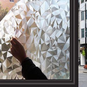 Fensterfolie Selbsthaftend Nachbildungfolie Blickdicht Sichtschutzfolie Ohne Kleber Gute Privatsphäre Schutz,45x200cm