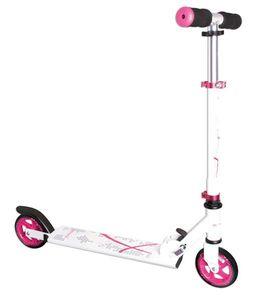 Tretroller, Alu-Scooter, Cityroller Muuwmi 125mm weiß-pink