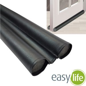 easy life Türboden-Dichtung Duo greenLINE 90 cm Zugluft-Stopper individuell kürzbar Wind-Stopper aus flexiblem PVC Tür-Dichtung gegen Kälte, Insekten und Lärm