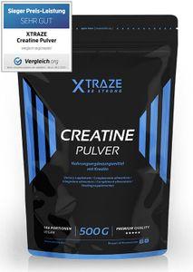 Kreatin Creatine Monohydrat Pulver vegan, 500 g
