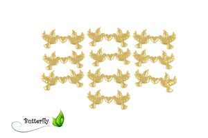 Applikation Tauben mit Herz 10 St., Farbe:gold