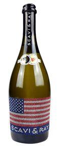 Scavi & Ray Prosecco Frizzante 0,75l (10,5% Vol) mit Bling Bling USA Flagge -[Enthält Sulfite]