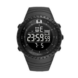 Mode Männer Sport Digital Display Hintergrundbeleuchtung Woche Datum Alarm Armbanduhr Geschenk Schwarz