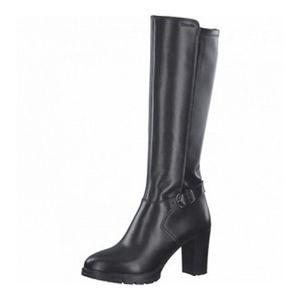 Tamaris Damen Elegante Stiefel 1-25613-27 Schwarz 001 B/Synthetik mit TOUCH-IT, Groesse:40 EU