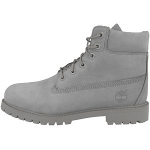 Timberland Schuhe klassische Damen 6 Boots Echtleder Stiefel Kinder Grau, Größe:39