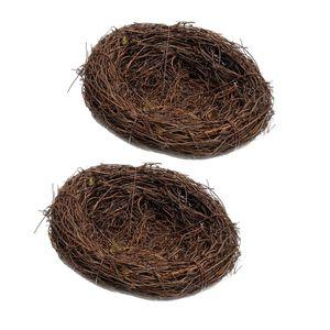 2x 12cm Wild Grass Nest Vogelnest  Handgemachte Rebe Natur Für Süßigkeiten Eier