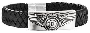 Police Lederarmband schwarz PJ25717BLB.01-S Freedom