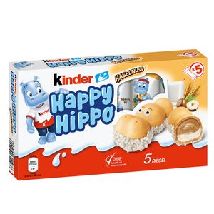 Kinder Happy Hippo Haselnuss Limited Edition 5 Waffelriegel 135g