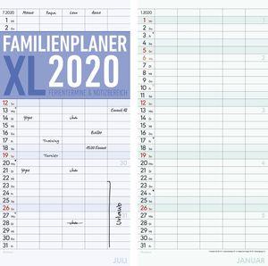 Familienkalender XL - 21 x 45 cm,  5 Spalten