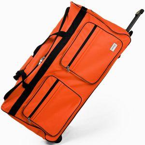 DEUBA® Reisetasche Sporttasche Reisekoffer Trolley Tasche Gepäcktasche 85-160 Liter, Farbe:hellblau