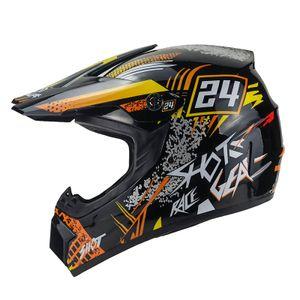 Hot-Shot Crosshelm für Kinder orange Motocrosshelm Helm Kinderhelm Endurohelm S