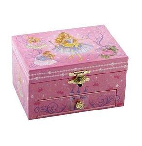 Hübsche Spieluhr Schmuckdose Prinzessin - drehende Figur im Inneren der Box
