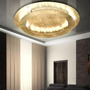 Paul Neuhaus LED Deckenleuchte Nevis aus Metall in Gold, 500 mm
