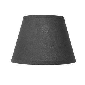 Lampenschirm für E14|E27 Fassungen Schwarz Leinenoptik 16 cm  Polyester/Baumwolle