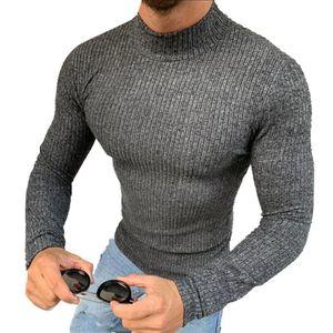 MEGAMAN Herren kurzer Rollkragenpullover Rolli Rollkragen Pulli Shirt  Sweater Größe S Anthrazit