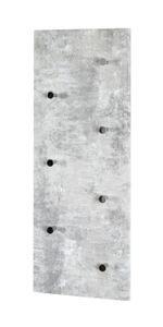Haku Wandgarderobe - Betonoptik-chrom - Maße: 80x5,5x30 cm; 42650