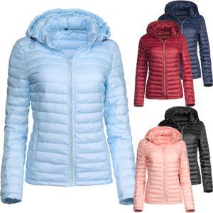 Trisens Damen Übergangsjacke Strass Zipper Steppjacke Frühlingsjacke, Farbe:Dunkelblau, Größe:XL
