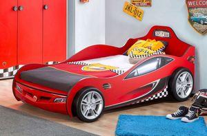 Cilek RACECUP Autobett Kinderbett Rennfahrerbett Rot, Matratze:ohne